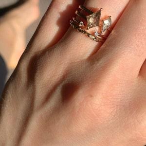 Thin Minimalist Star Ring 14k18k Gold Star Ring Star Diamond Ring RoseYellowWhite Dainty Star Promise Ring Rings for GirlsDaughters