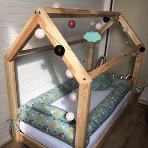 pour matelas au sol lit cabane lit tipi lit montessori etsy. Black Bedroom Furniture Sets. Home Design Ideas