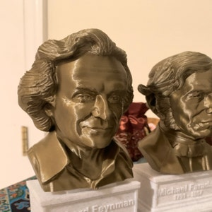 Richard Feynman Famous American Physicist and Mathematician 7 inch 3D Printed Bust