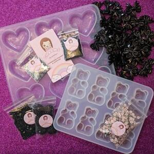 24pcs Purple Bow beads 30mm x 23mm