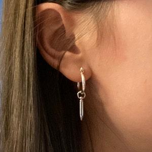 Gold Earrings Minimalist Handmade Mod Fashion Eton Earrings Ear Jacket Geometric Women Ear Studs Jewelry Contemporary. Casual