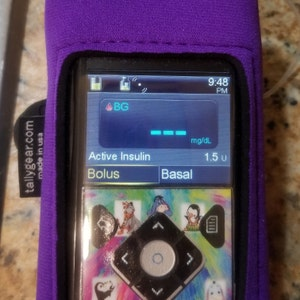 Iphone Neon Skulls! Medtronic insulin pump belt Tslimx2 Smartphone Tummietote-2 Band with oversized vinyl window Type 1 Diabetes
