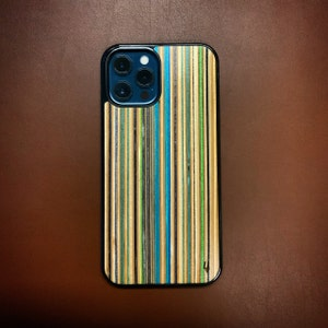 8 plus 11 Pro Max 8 X Green Recycled Skateboards iPhone case for Xs max 6 wooden case iPhone wood 11 7 XS XR 7 plus 6s 6s plus