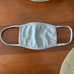 Face Mask with Nose Wire Filter Pocket Adults & Kids Reversible   French Terry and Triblend   Washable Reusable   Made in USA Tough Cookie photo