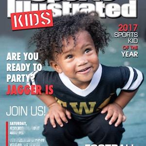Sports Illustrated Kids Magazine Cover Invitation - Printable