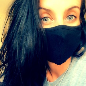 Face Mask with Nose Wire Filter Pocket | Triblend Adjustable | Washable and Reusable | Made in USA by Tough Cookie ToughCookieClothing photo