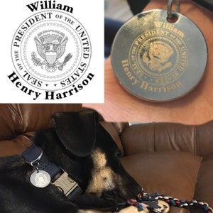 Personalized picture dog tag, name dog tag for dogs personalized, dog name tag, pet portrait dog tag, custom text dog tag, double sided tag photo