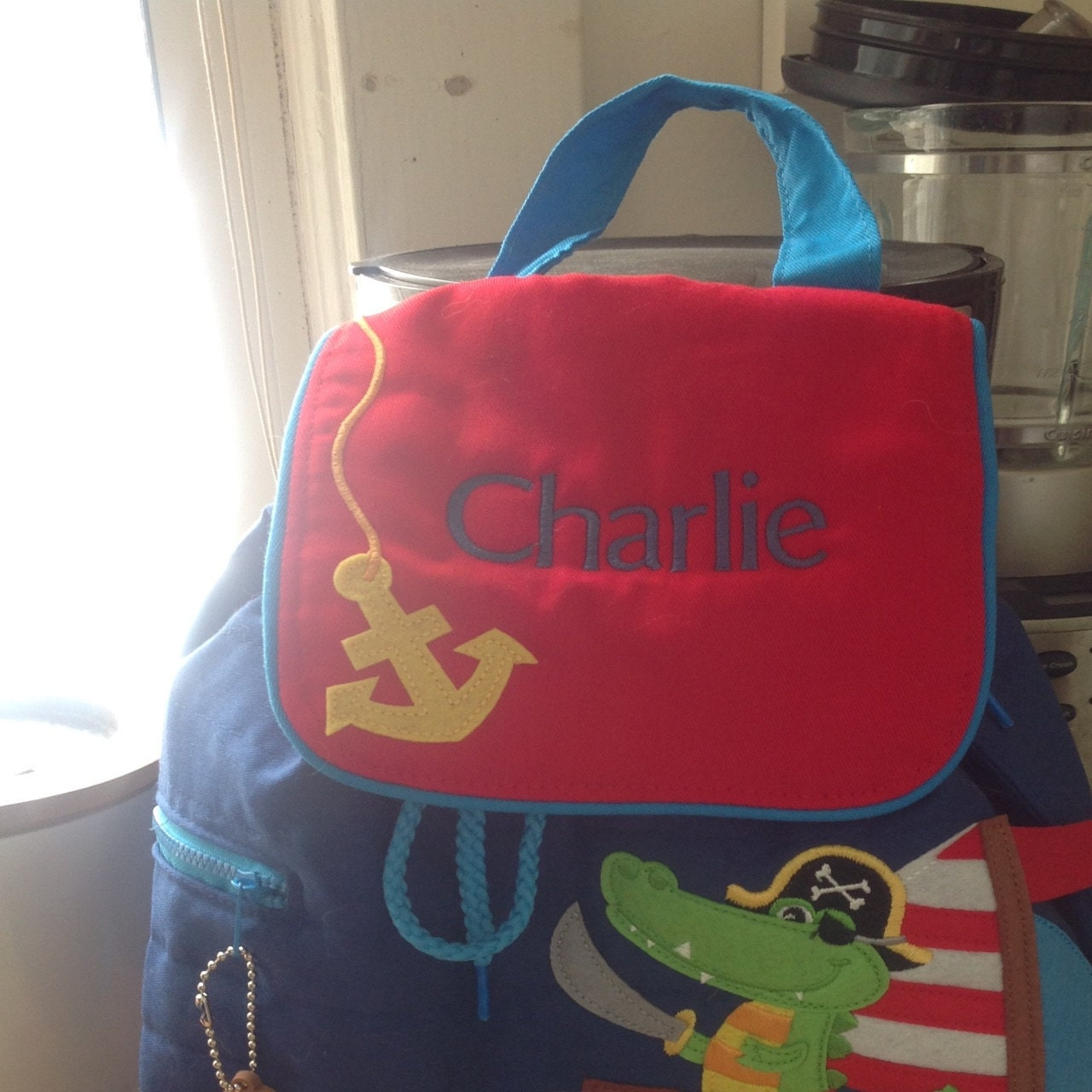 I looked at a lot of Etsy shops that carry the Stephen Joseph children s  backpack, and am so glad I purchased here! My grandson s name was  beautifully ... 1543bc56b9