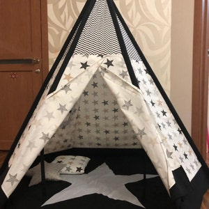Large teepee - tipi - kids teepee - childrens teepee - playhouse