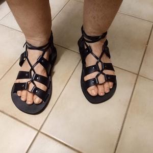 2b4faf7bd7f6 BREEZE Strappy sandals  leather sandals  ancient Greek
