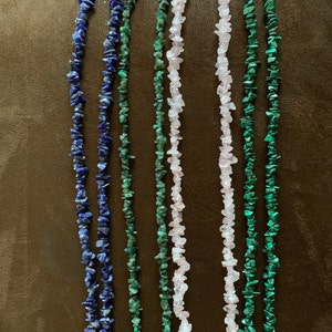 Malachite Chip Beads Strand, Semi Precious, Gemstone Chips, Gemstone Beads, Jewelry Making Supply, GemMartUSA (CHMC-70001) photo