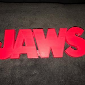 Desk Art JAWS Shelf Art Movie Display Horror Film Collection Logo Sign Wall