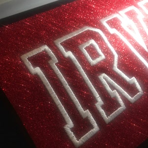 Varsity Collegiate Applique Machine Embroidery Font Monogram Alphabet - 4 Sizes photo