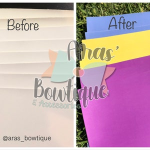 COLOR CHANGE Faux Leather Sheets, Faux Leather for Hair Bows and Crafts, UV Reactive, 6 Colors Available photo