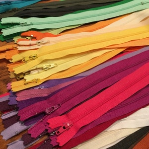 Special Price- 50 Assorted YKK All Purpose Zippers- Available in 3,4,5,6,7,8,9,10,12,14,16,18,20 and 22 Inches photo