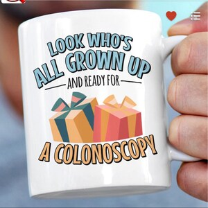 50th Birthday Gift for Men, Funny 50th Birthday Gifts for Women - Funny Birthday Gift for 50th Birthday Party Gift, Colonoscopy Gag Gift Mug