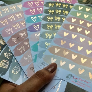 Foiled Icon Stickers   Bows   56 Stickers Total photo