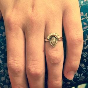Diamond Gold Ring Diamond Wedding Set Pear Engagement Ring