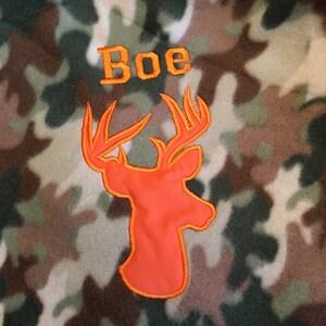 Applique Deer Head Buck Silhouette Machine Embroidery Design - 5 Sizes photo