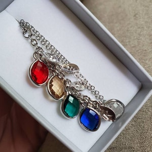 Family Birthstone Necklace Personalized Gifts for Mom Mothers Day Gift for Her Grandma Gift Grandma Necklace Personalized Jewelry - BSON-L photo