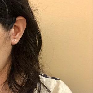 Tiny Stud Earrings • CZ dainty earrings • gold studs • small stud earrings • minimalist earrings • silver stud earrings photo