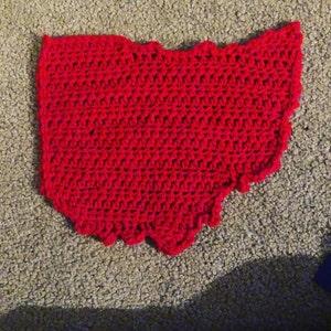 US state of Oregon medium crochet applique pattern