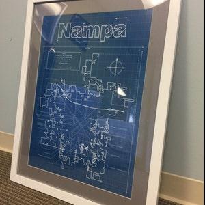 Tulsa map original artwork tulsa blueprint wall art etsy photos from reviews malvernweather Gallery