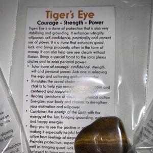 Tigers Eye Crystal - Tiger Eye tumbled gemstone - healing crystal - Tiger Eye tumbled - chakra - healing crystal gemstone - chakra balancing photo