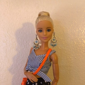 Barbie Jewelry Silver Chandelier Earrings