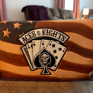 Custom Military Wallets  Airborne Rangers  Don/'t Tread On Me  We The People Biker Wallet