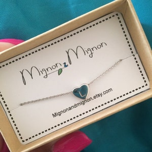 Flower Girl Necklace Will You Be My Flower Girl Gift Flower Girl Proposal Heart Initial Necklace Personalized Gifts for Girlfriend - FHN photo