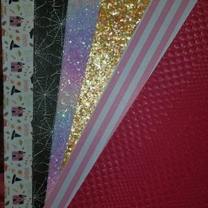 PASTEL RAINBOW Chunky Glitter Canvas Sheet,  Iridescent Glitter Fabric Sheet - 541 photo