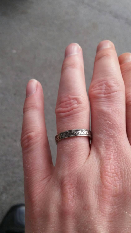 Petunia Skinny Wedding Band - 14k Rose Gold, 14k Yellow Gold, or 14k ...