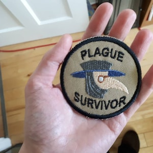 Plague Survivor Geek Merit Badge Patch FAST SHIP