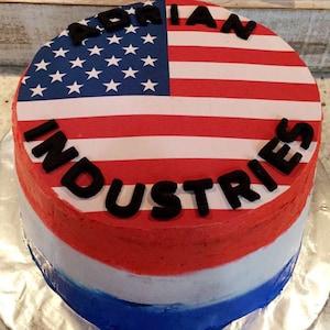 "Saint Lucia Flag Cake Topper 8/"" 20cm Circle Icing Decoration Party Celebration"