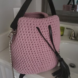 ede35b08613 Crochet bucket purse Mini bucket bag 2019 Crochet | Etsy