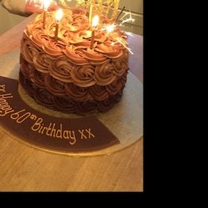 Ten Cake Topper