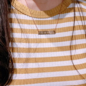 Personalized Necklace Engraved Necklace Coordinates Necklace Custom Necklace for Women Best Friend Name Necklaces Name Jewelry - 4N photo