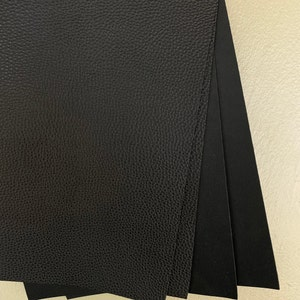 BLACK Matte Faux Leather Sheets, Faux Leather Sheets, Leather for Earrings, Hair Bow Material, Craft Supplies - 79 photo