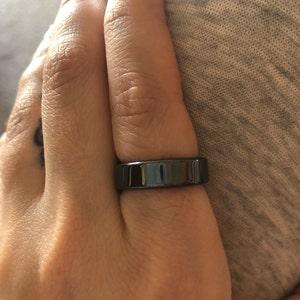 Magnifique MAGNET Band Ring synthétique en céramique de baryum-Strontium Ferrite hemr 21 W