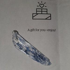 "blue kyanite (~1.5"") - raw blue kyanite - 1.5"" - 3.5"" kyanite - healing crystals & stones - protection crystal - blue kyanite - chakra stone photo"