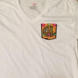 Applique Pocket Machine Embroidery Design - 10 Sizes photo