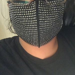 Rhinestone/ blinged fashion mask photo