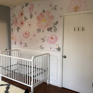 amara floral wallpaper mural watercolor floral etsyelizabeth lockerman added a photo of their purchase