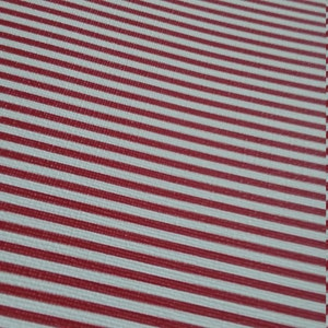 Small RED & WHITE STRIPES ,faux leather sheet, 8x11 faux leather,textured faux leather,fake leather, vegan leather, faux leather fabric yard photo