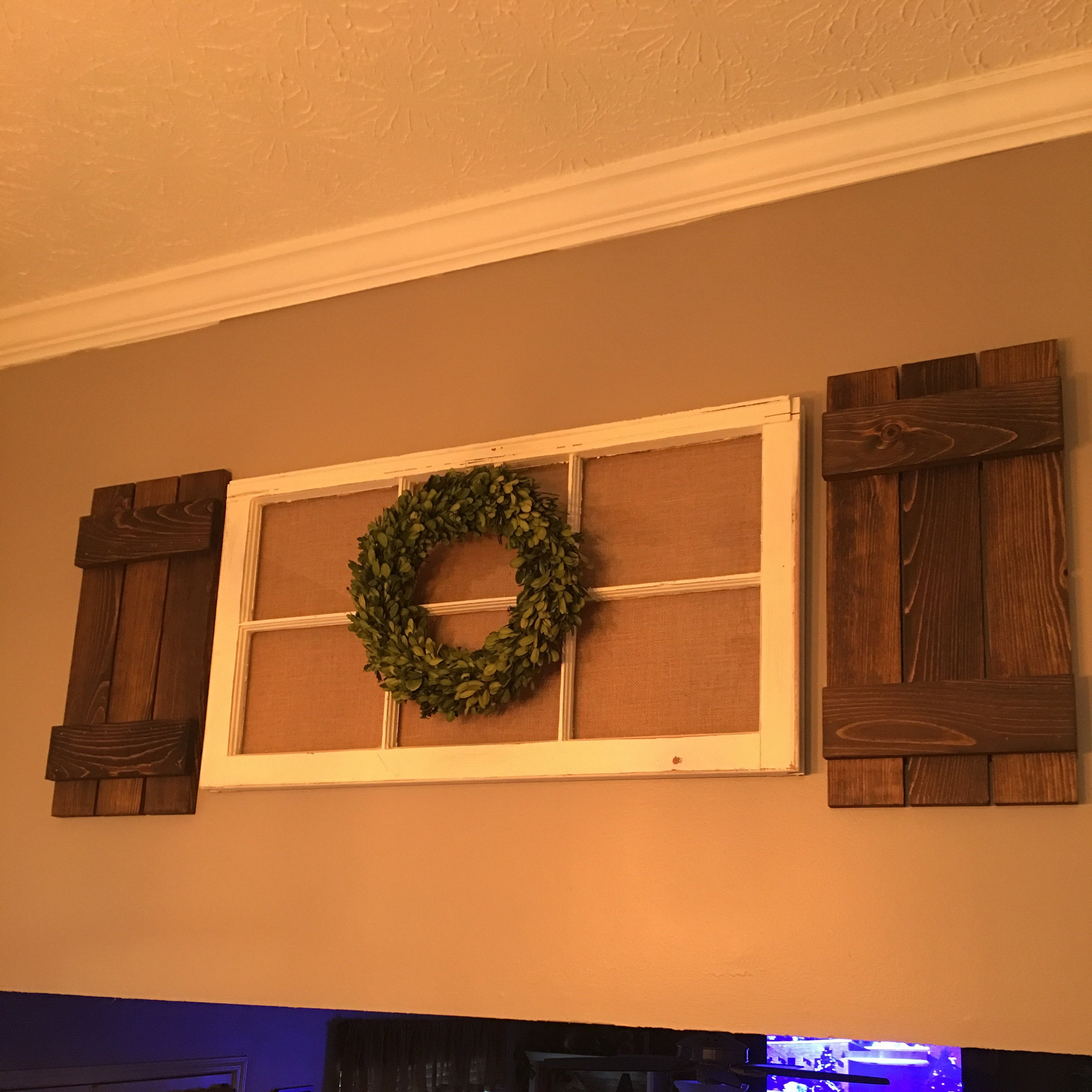 Pair Of Decorative Interior Board N Batten Style Shutters 20 Colors Classic Gray Available In 4 Sizes 40 34 28 22 Rustic Decor