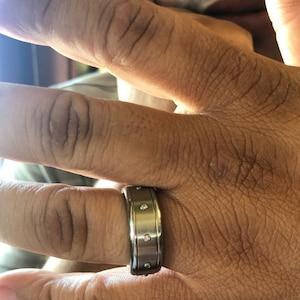 Unique Mens Wedding band \u2981 Mens Ring \u2981 Cool Man Ring Band \u2981 Sperms Spinner Ring \u2981 Stainless Steel Ring \u2981 Unique Men Jewelry Ring \u2981 Berman