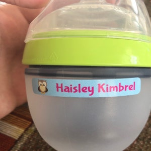 72 School Supply Labels - Waterproof Labels - Personalized Name Labels - Labels for School Supplies - Name Stickers - Baby Bottle Labels photo