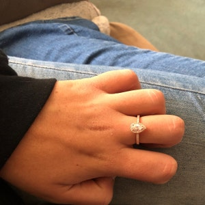 1/2 ct Promise Ring Engagement Ring Classic Solitaire Ring ...