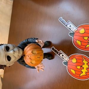 Michael Myers Halloween Pumpkin Carving 5-inch Vinyl Sticker